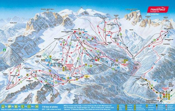 Sonnenalpe apartments Nassfeld - ski slopes map