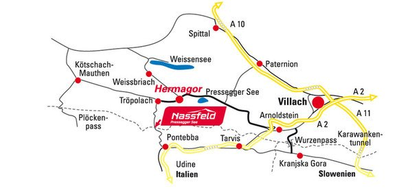 Sonnenalpe apartments Nassfeld - how to get there