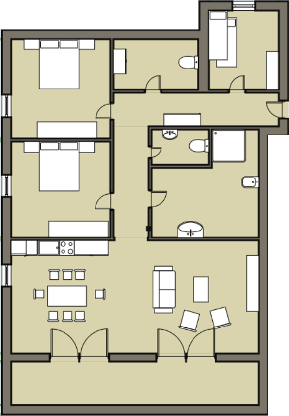 Sonnenalpe apartments Nassfeld - Apartment plan
